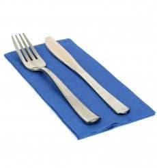 Serviette Papier Molletonnée 1/8 40x40 Bleu (1.200 Utés)