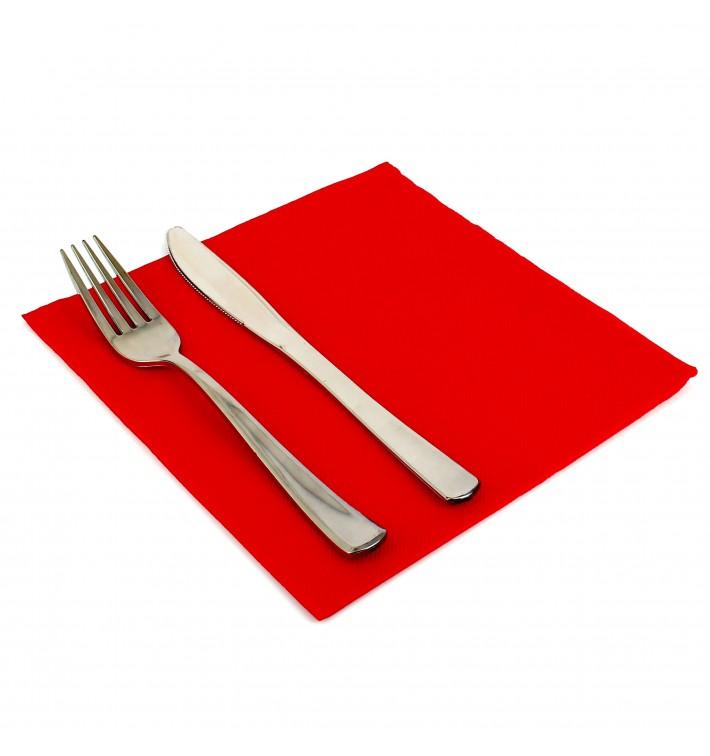 Serviette Papier Molletonnée 40x40 Rouge (50 Unités)