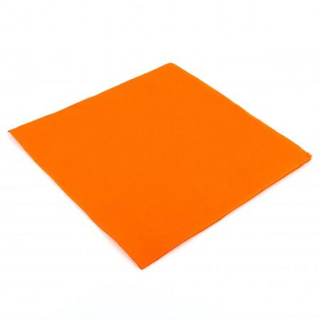 Serviette en papier UNIE 40X40 Orange (1.200 Utés)
