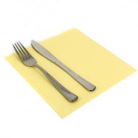Serviette Papier Molletonnée 40x40 Crème (50 Unités)