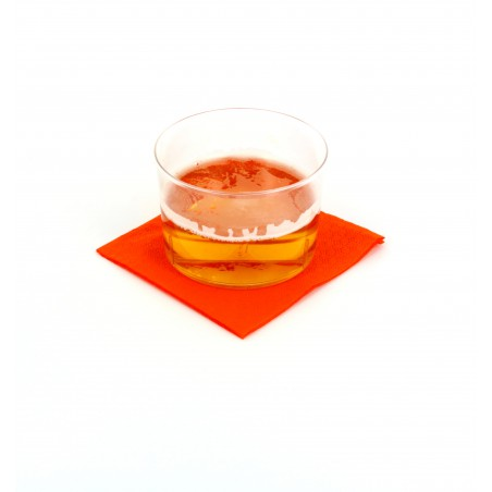 Serviette cocktail 20x20 Orange (100 Unités)
