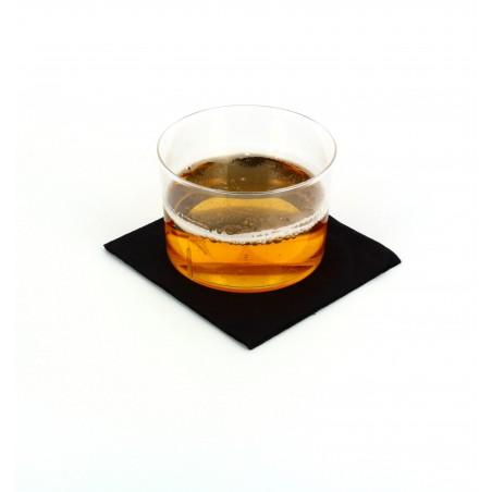Serviette à Cocktail 20x20cm Noire (3.000 Unités)