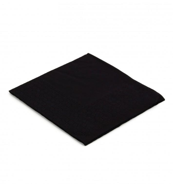 Serviette Papier à Cocktail 20x20cm Noire (100 Unités)