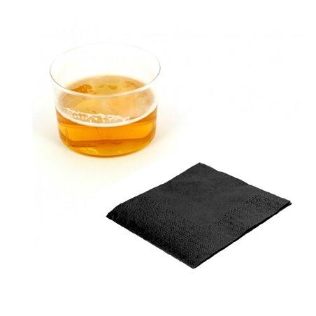 Serviette à Cocktail 20x20cm Noire (100 Unités)