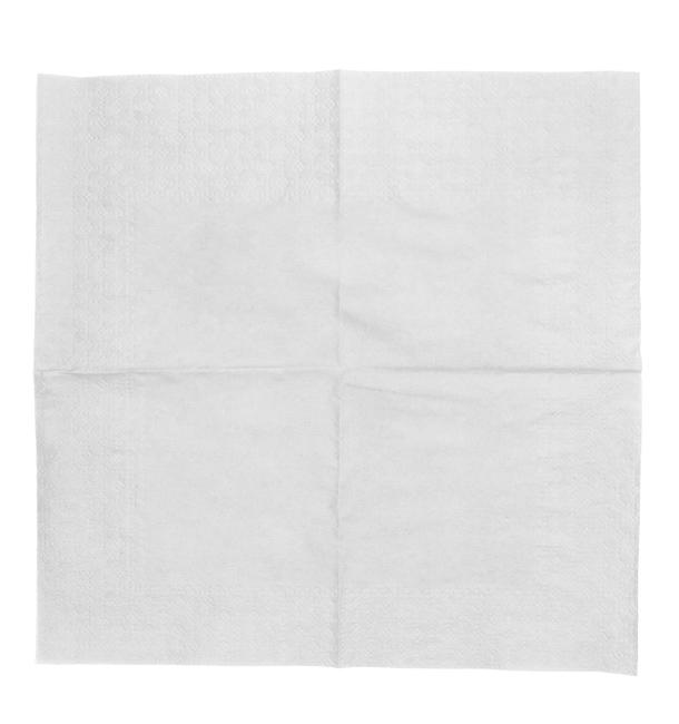 Serviette Papier à Cocktail 20x20cm Blanc (6.000 Unités)