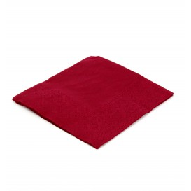 Serviette cocktail 20x20 Bordeaux (3.000 Unités)