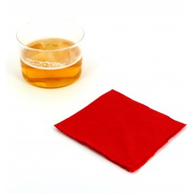 Serviette Papier à Cocktail 20x20 Rouge (6.000 Unités)