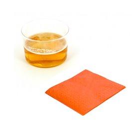 Serviette Papier à Cocktail 20x20 Orange (100 Unités)
