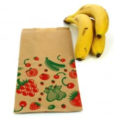Sac Fruit Kraft 14+7x28cm (1000 Utés)