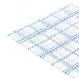 Serviette Papier 33x33 Carré Bleu 1 epaisseur (80 Utés)